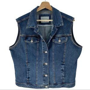 Denver Hayes Vintage Cotton Denim Blue Jean Vest